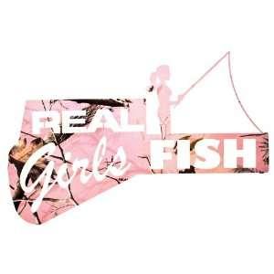 22 Real Girls Fish Metal Wall Art Realtree APC Pink Camo