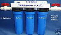 Whole House Water Filter /Sediment/Carbon/Drinking/RO |