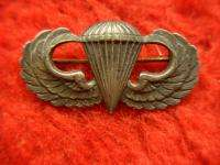 ORIG. WW II PARATROOPER JUMP WINGS   STERLING SILVER   PIN BACK TYPE