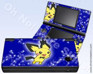 Nintendo DSi Skin Vinyl Decal   Pokemon Pichu #2, Blue