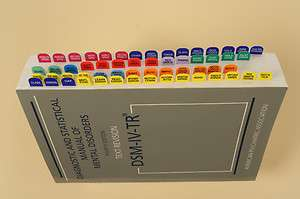 DSM IV TR Index Tabs with Easy Installation Template
