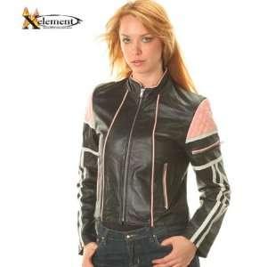 Nouveau Lambskin Syle ri one Womens Leaher Jacke   Color  black