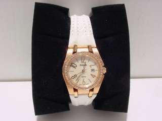 Pulsar by Seiko Ladys Pxt668 Rosetone White Strap Watch NEW