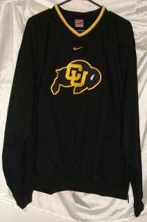 University of Colorado Nike Windbreaker Pullover Windshirt Black Mens