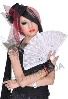 SH949 Black Lace Glint Punk Lady Hair Clip Mini Top Hat