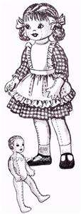 Life Size Soft Doll Pattern 874 ~ 32 Jointed GIRL DOLL