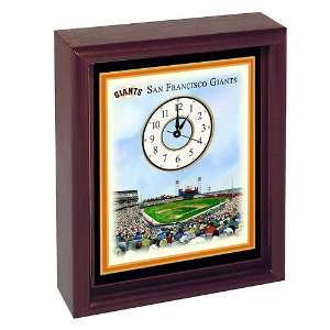 Eglomise San Francisco Giants Colorprint Desk Clock