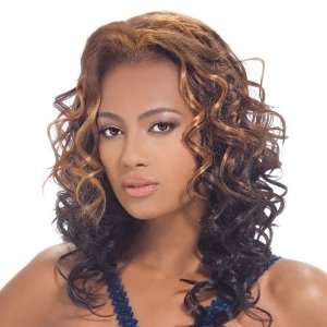 Synthetic Hair Half Wig OUTRE Quick Weave Angie Color 1B: Beauty