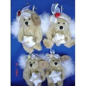 5.5 Inches Christmas Angel Fairy Teddy Bear Toy Ornament