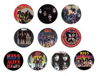 hotter than hell,dressed to kill pin Button BADGE / MAGNET SET