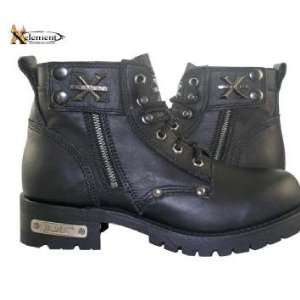 Advance Mens Black Lace Up Motorcycle Boots Sz 13