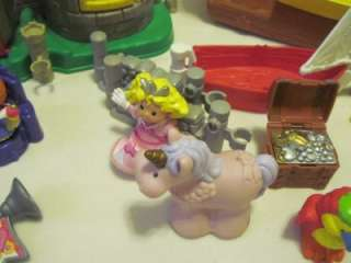 PEOPLE CASTLE & PIRATE SHIP MORE HUGE BABY PRESCHOOL TOY LOT
