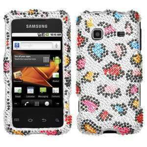 Leopard Crystal BLING Hard Case Phone Cover Samsung Galaxy Precedent