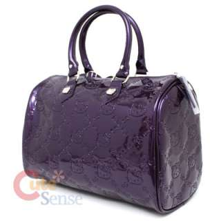 Sanrio Hello Kitty City Embossed Hand Bag   Purple Loungefly Satchel