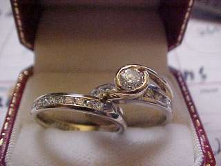 25 CT DIAMOND WEDDING ENGAGEMENT RINGS 14K WHITE GOLD & YELLOW SIZE