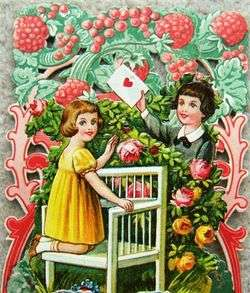 Vintage Pop Out Embossed LOVING GREETINGS Valentines Day Card 1930s