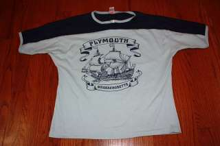 vtg 80s PLYMOUTH Massachusetts shirt L indie punk