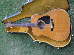 NICE OLDER IBANEZ ACOUSTIC GUITAR AND CASE MODEL NO. V 300