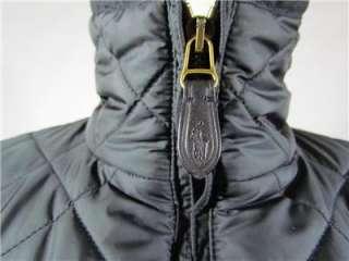Authentic Ralph Lauren Sport Black Quilted Jacket Coat Size XL