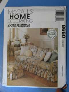 McCALLS HOME DEC SEWING PATTERN NEW # 8660 COVER ESSEN