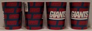 New York Giants NFL Party 4 Plastic 16 oz Cups