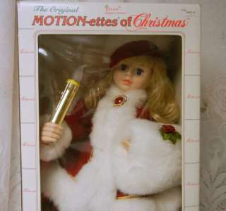 Vintage Animated Telco MOTION ette Electric Christmas Santa Girl