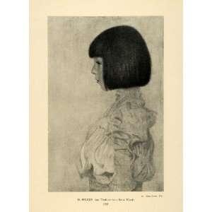 1942 Print Ernst Klimts Daughter Portrait Helene 1898 Gustav Klimt