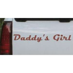 Brown 56in X 8.4in    Daddys Girl Girlie Car Window Wall Laptop Decal