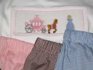 La Fete girls Smocked LS TEE shirt 24M 4T PRINCESS Carriage Cinderella
