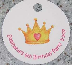 20 Personalized Princess Favor Gift Tag Shower Birthday