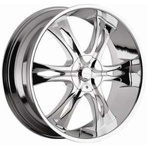 Incubus Nemesis 22x9.5 Chrome Wheel / Rim 5x115 & 5x120 with a 15mm