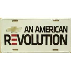 Chevy An American Revolution License Plate Plates Tag Tags
