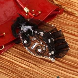 Tulle Feather Black Bridal Wedding Bride Headdress Headdress Hair