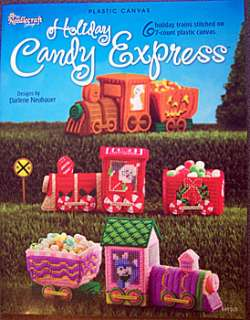 HOLIDAY Candy EXPRESS 7 CT Plastic Canvas Project Book