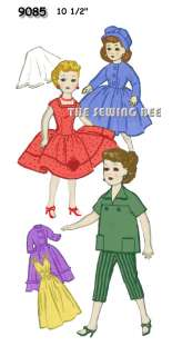 9085 10 1/2 for REVLON Doll wardrobe pattern vintage