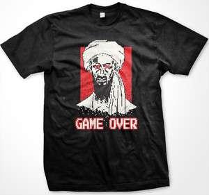Osama Bin Laden Game Over Funny Patriotic Mens T shirt