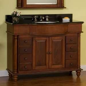 48 George Washington Vanity Cabinet   Brown Cherry