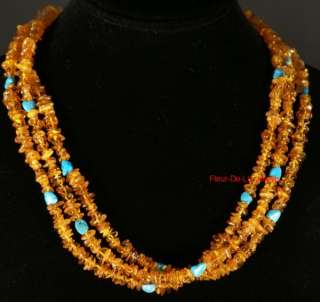 Jay King MINE FINDS Amber & Turquoise 20 Necklace