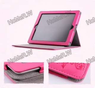 Color Cute Faerie Magnetic Stand Smart Leather Case Cover for iPad 2