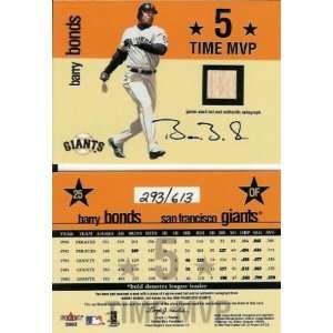 Barry Bonds San Francisco Giants Autographed 5xMVP Fleer Game Used Bat