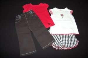 GYMBOREE Ladybug Outfit Red Fly Away Shirt Top & Black Capri Set 3T 3