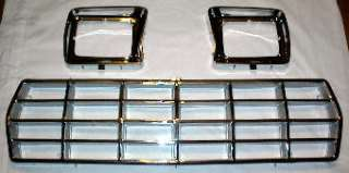 78 79 FORD Truck Bronco CHROME GRILL & DOORS Grille 3Pc