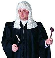 Costumes Wigs Dlx Colonial Judge Costume Wig White