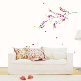 Tropical Orchid Flower Art Wall STICKER Removable Decal