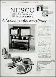 1927   NESCO Kerosene Cook Stove   Vintage AD