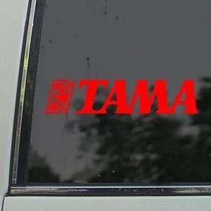 TAMA BASS DRUM LOGO Red Decal Car Truck Window Red Sticker