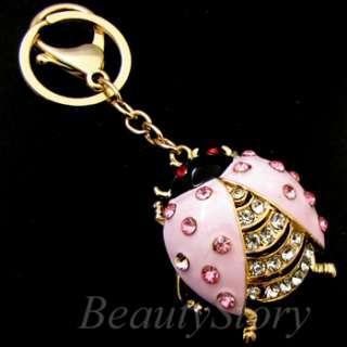 ADDL Item  Rhinestone Crystal bug Key Chain Handbag Deco