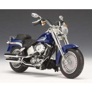 2009 Harley Davidson FLSTF Fat Boy Flame Blue Pearl Toys & Games