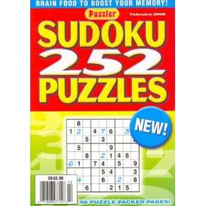 Sudoku, 252 Puzzles, February 2008 Issue Editors of PUZZLER SUDOKU