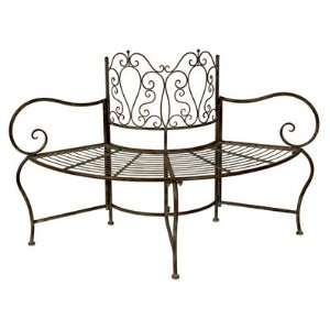 Wrought Iron Tree Bench: Patio, Lawn & Garden